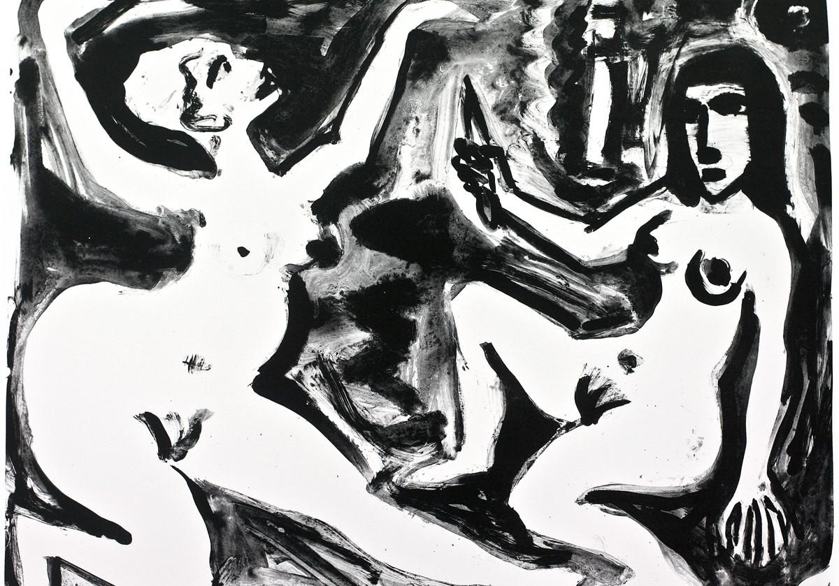 A.R. Penck 2_Frauen_im_Gespräch Lithografie