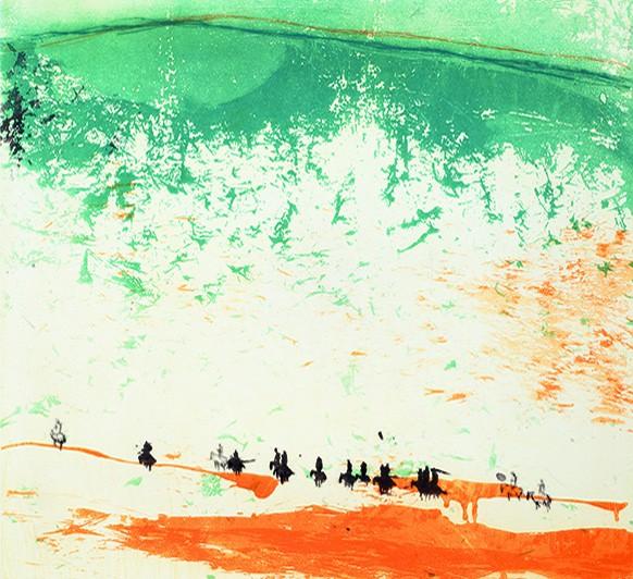 Ausstellung: Grafik aus Frankreich; Patrick Loste: Reiter