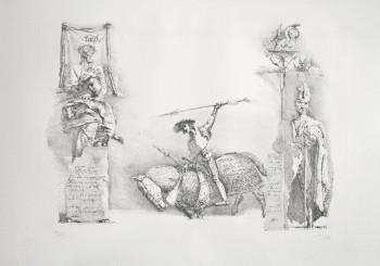Werner Tübke Allstedt Lithografie