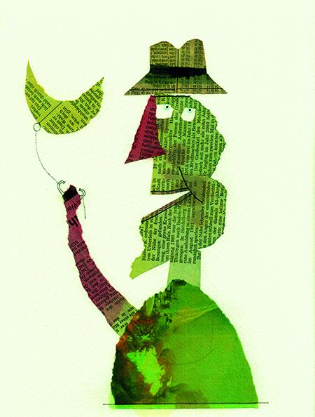 Peter Thiele; Mann mit Mond
