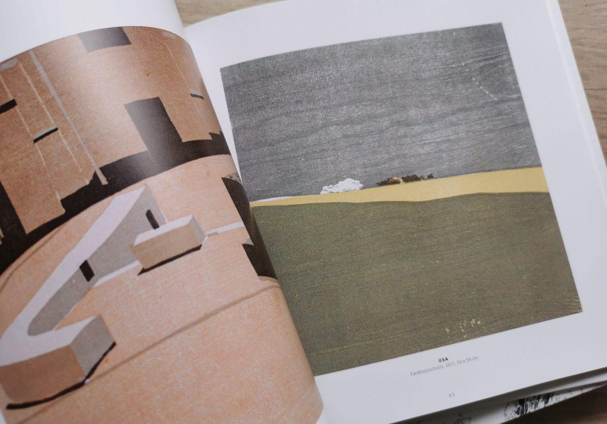 Draußen, Katalog, Christine Ebersbach, Farbholzschnitt