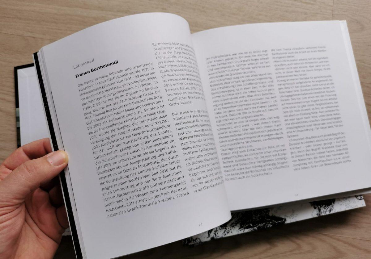 Draußen, Katalog, Franca Bartholomäi, Lebenslauf