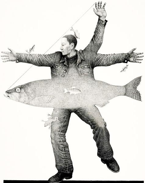 Estland • Cherald Willemowitsch Eelma • Tanz mit einem Fisch