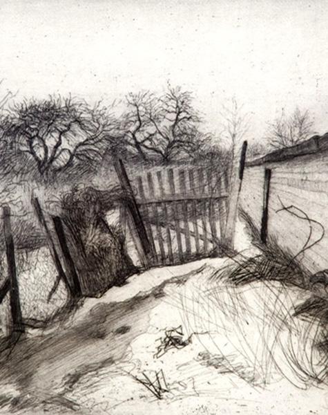 Lettland • Naftolij Gutmanis • Hinter der Ziegelsteinmauer der Garage