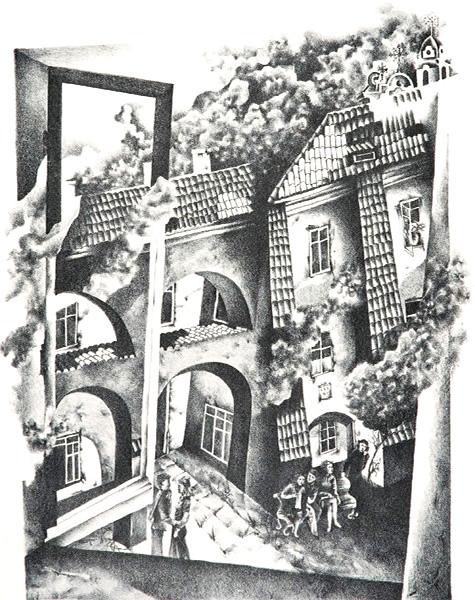 Litauen • Galina Wassiljewna Bugajewa • Hof von M. Sarbewija