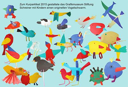 Vogelschwarm-Gruppenbild