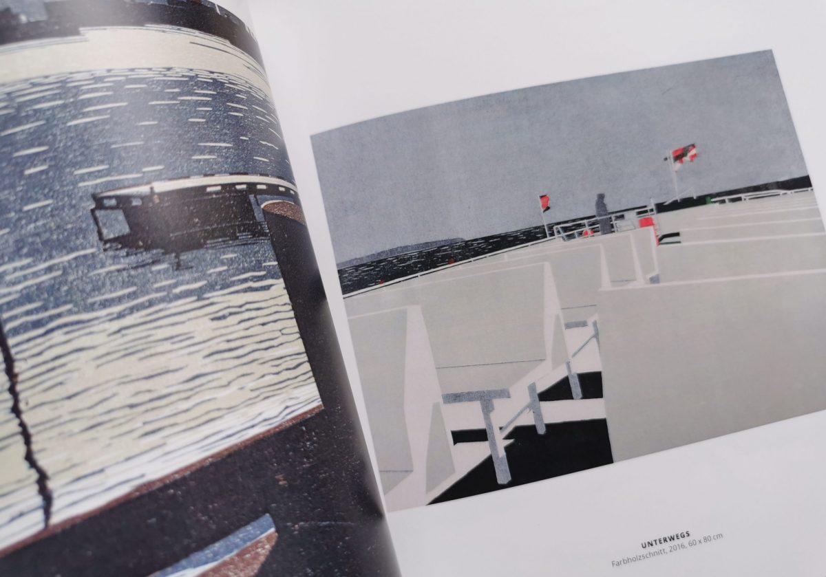 Draußen, Katalog, Unterwegs, Christine Ebersbach, Farbholzschnitt